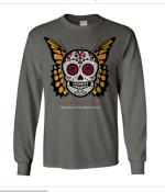 Monarch Skull Day of the Dead Long-Sleeve T-Shirt