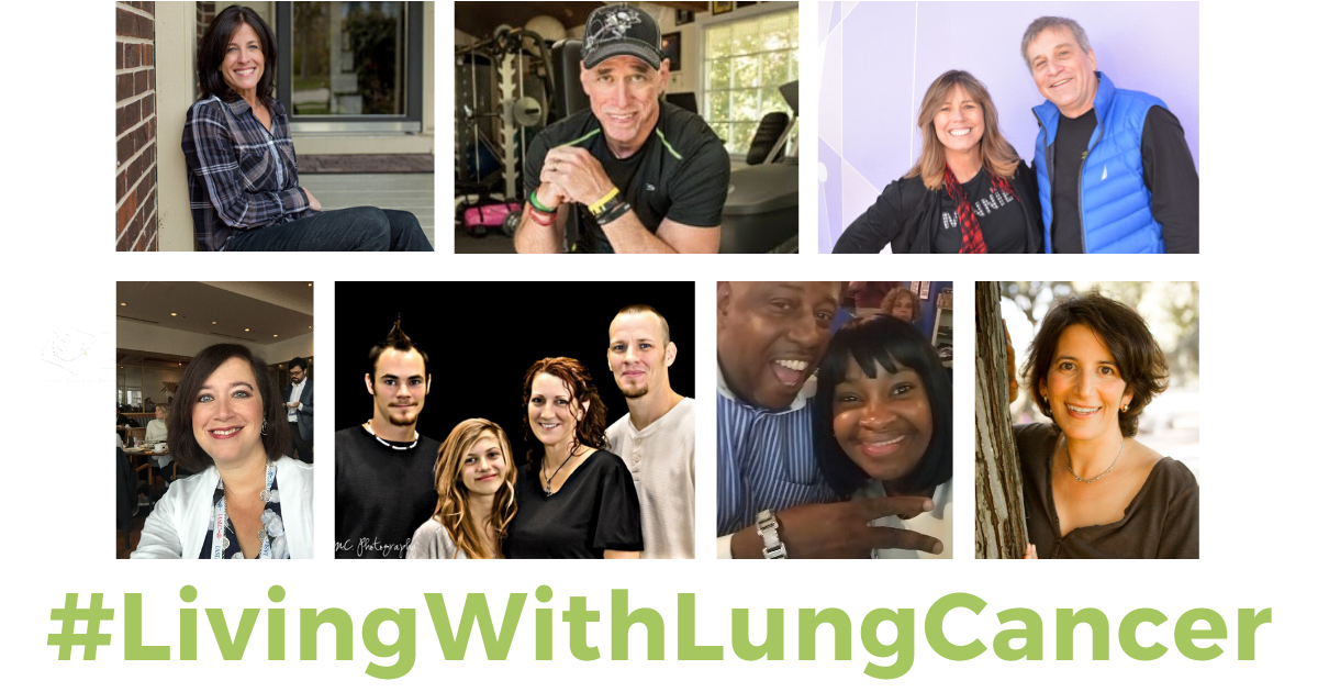 #livingwithlungcancer photo mosaic of speakers bureau