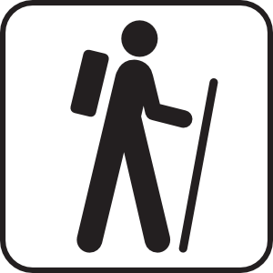 Hiker graphic