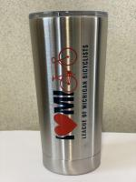 I Heart MI Bike Travel Coffee Mug