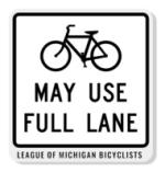 Bikes May Use Full Lane Acrylic Pin