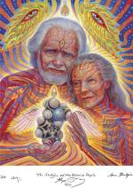 The Shulgins & their Alchemical Angels - Alex Grey