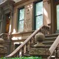 steps of brownstone in Bedford Stuyvesant, Brooklyn