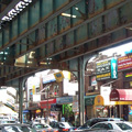 elevated train tracks in Elmhurst, Queens