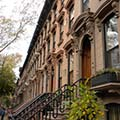 brownstones in Fort Greene, Brooklyn