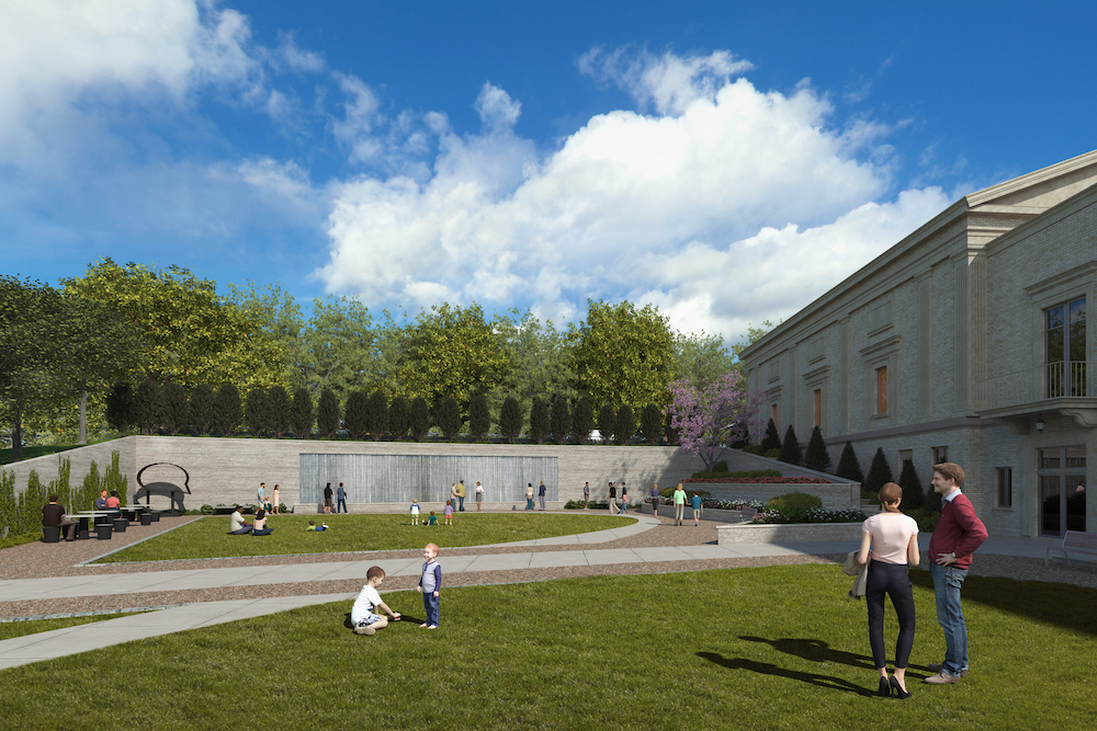 Architect's rendering of the art park