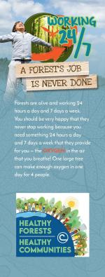 "2021 Bookmark ""Healthy Forests=Healthy Communities"