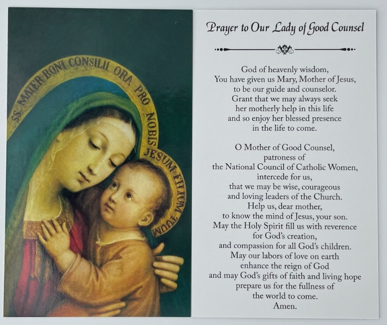 Our Lady of Good Counsel Prayer Cards (Pks. of 25)