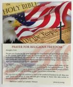 Religious Freedom Prayer Cards (Pks. of 25)