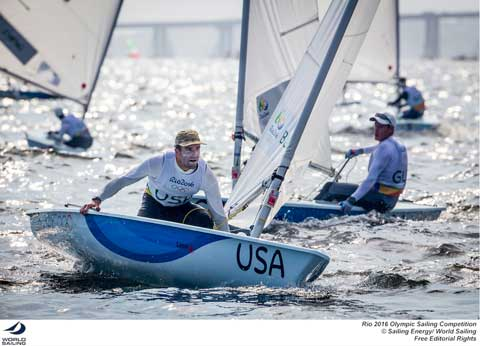 USA-Laser - Charlie Buckingham. Photo credit & © credit Sailing Energy / World Sailing.