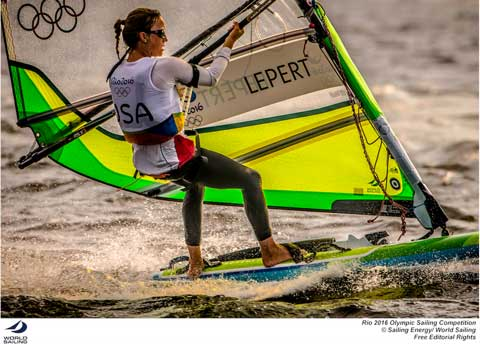 Marion Lepert - USA Women's RS:X. Photo credit & © credit Sailing Energy / World Sailing.