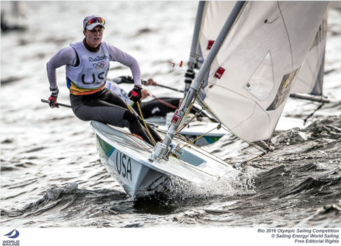 USA - Paige Railey - Laser Radial. Photo credit & © credit Sailing Energy / World Sailing.