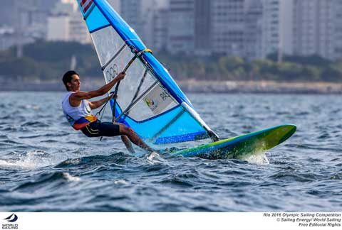 TEAM USA's Pedro Pascual, Men's RS:X