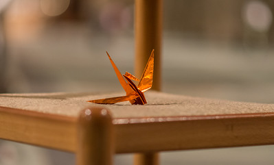 image of paper crane from NYCMER event