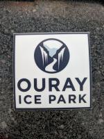Ouray Ice Park Sticker (clear)