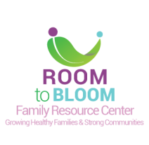 Logo: Room to Bloom Family Resource Center - Growing Healthy Families & Strong Communities