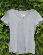 Ladies Grey V-Neck T-shirt