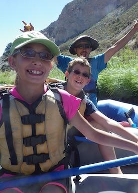 Kids at PEEC summer camp having some fun on the Rio Grande