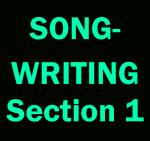 Songwriting (Sec. 1): Mon, 12:00-1:15 WI18