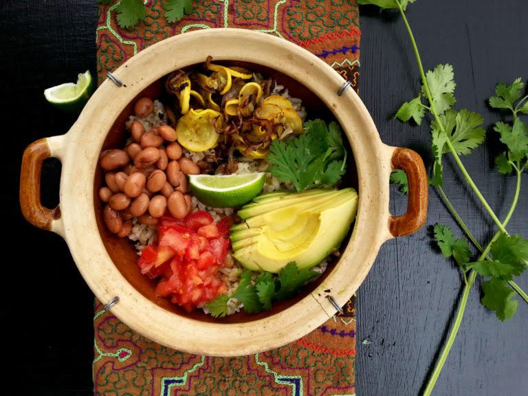 Plant-based bowl of food