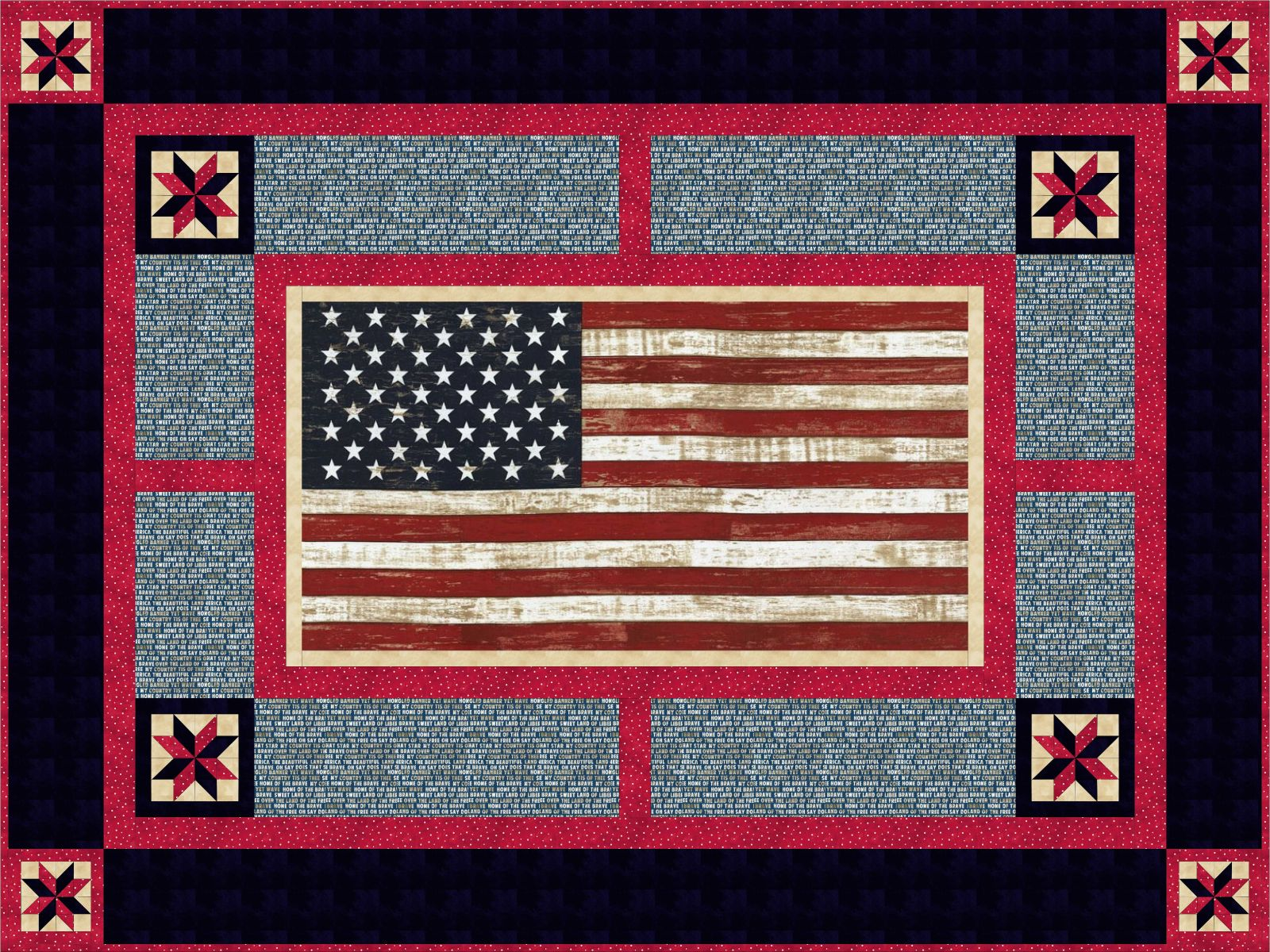 """American Pride"" Free Quilts of Valor Pattern designed by Debbie Chambers from the Quilts of Valor Foundation"