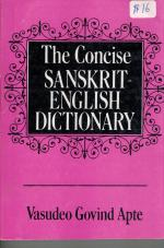 The Concise Sanskrit-English Dictionary (VG Apte)