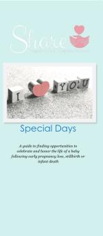 Special Days: Share Informational Brochure