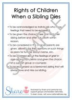 Rights of Children When a Sibling Dies