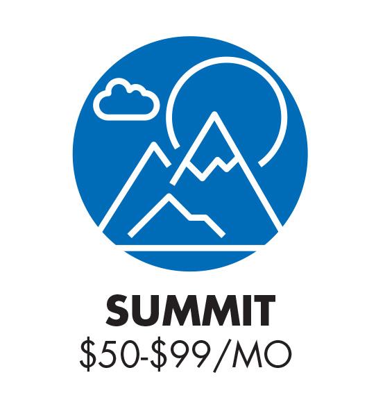 Summit Club $50 - 99 monthly