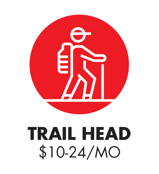 Trail Head Icon $5 - 24 monthly