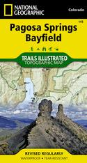 National Geographic Pagosa Springs Bayfield Map