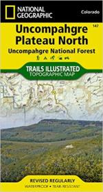 National Geographic Uncompahgre North Map