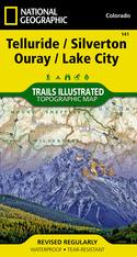 Nat Geo Telluride, Silverton, Ouray, Lake City Map
