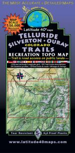 Latitude 40 Telluride Silverton Ouray Map