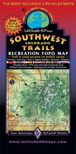 Latitude 40 Southwest Colorado Trails Map