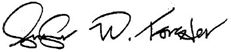 Signature reads Jennifer W. Forster