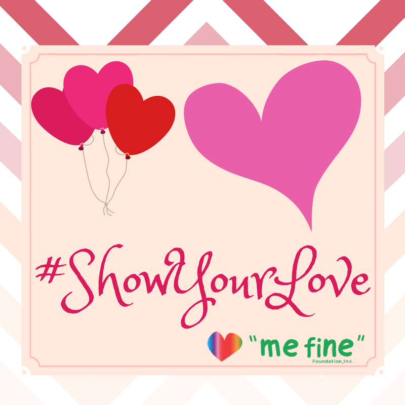 #ShowYourLove campaign graphic