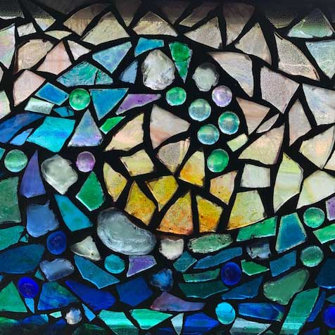 Glass Mosaic Healing Symbols at Transformations Spirituality Center