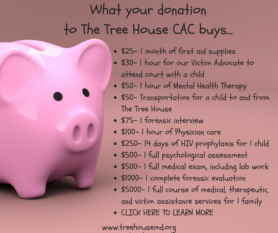 What can your donation to The Tree House CAC Buy