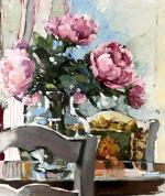 Peonies in the Sunroom by Christine Seo