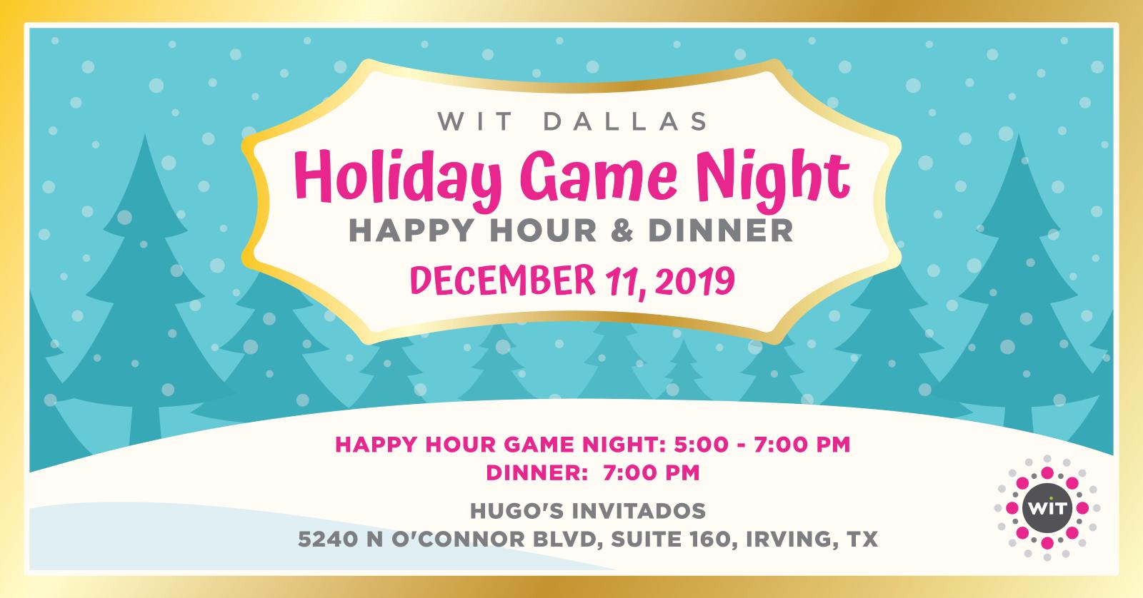 Dallas Holiday Game Night Dec. 11