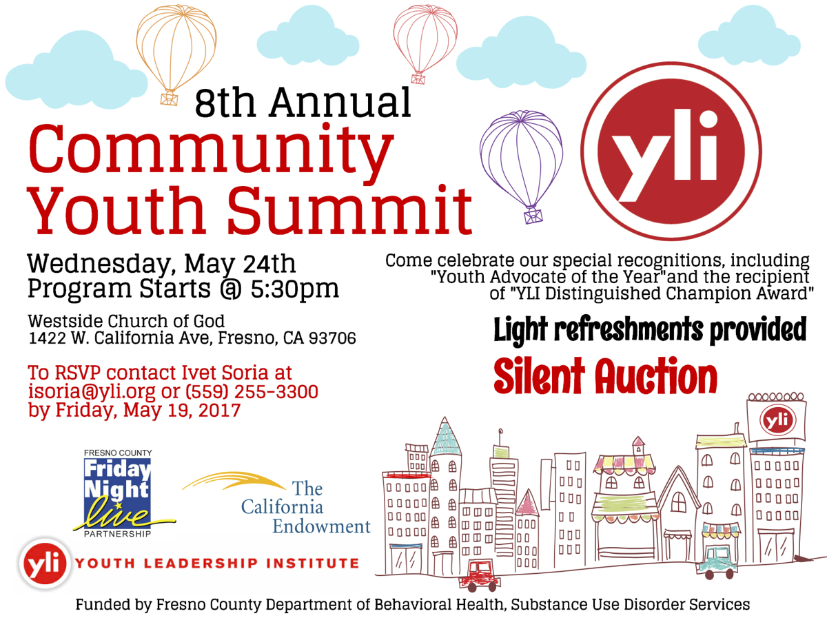 YLI 8th Annual Community Summit Flyer for May 24 2017